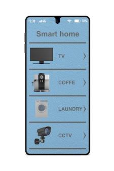 Casa inteligente. representación 3d aislada