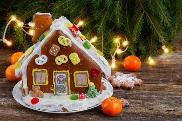 Casa de pan de jengibre para navidad