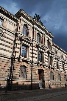 La casa vintage en dresde, sajonia, alemania