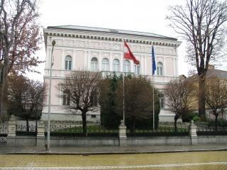 Casas antiguas en sofía, la bandera