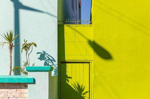 Casas coloridas del distrito de bo kaap en ciudad del cabo, sudáfrica