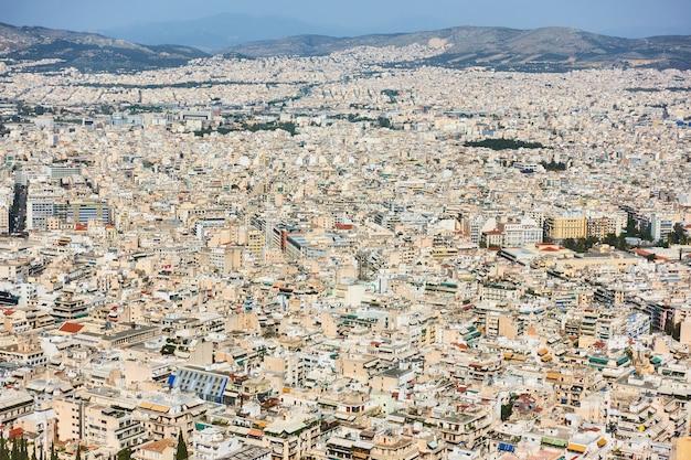 Casas residenciales en la ciudad de atenas, grecia