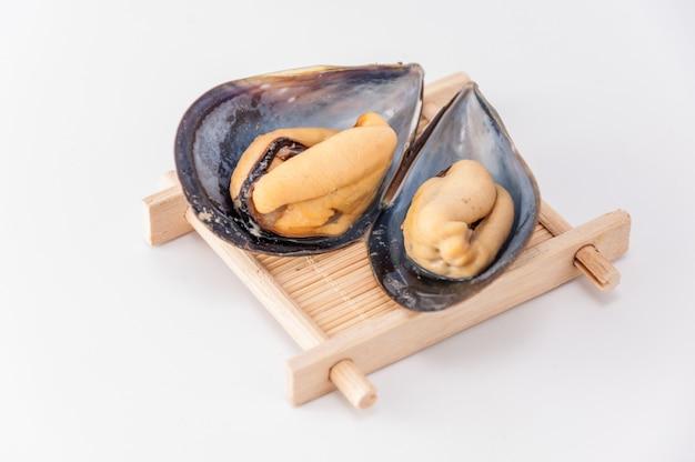 Cáscara fresca macro ostra caro
