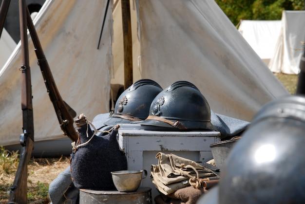 Casco militar francés de la primera guerra mundial.
