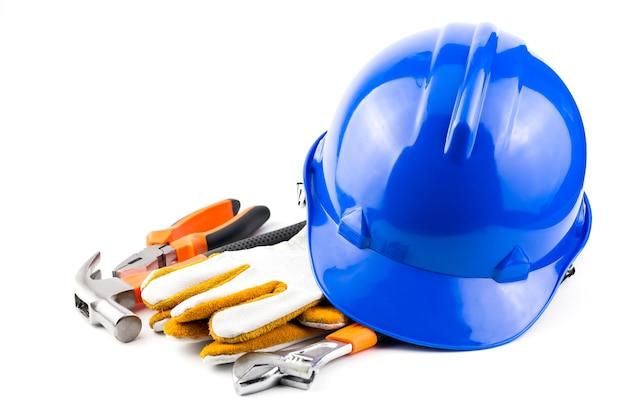 Casco de seguridad / herramientas de mano.