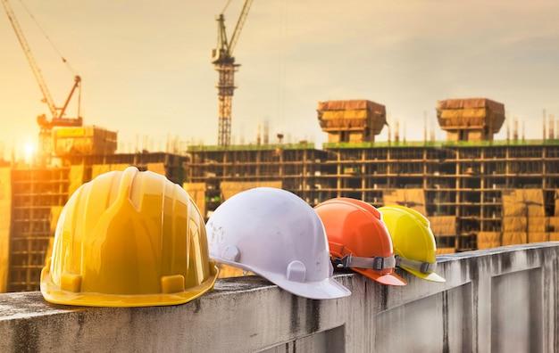 Casco de seguridad ingeniería equipo de construcción de trabajadores