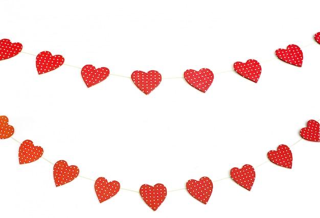 Las casillas de verificación para la ocasión en forma de corazón.