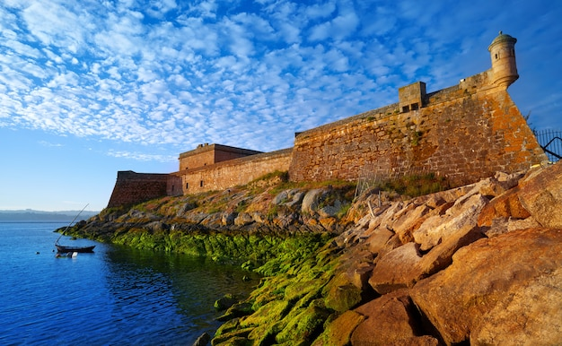 Castelo san anton en la coruña de galicia españa