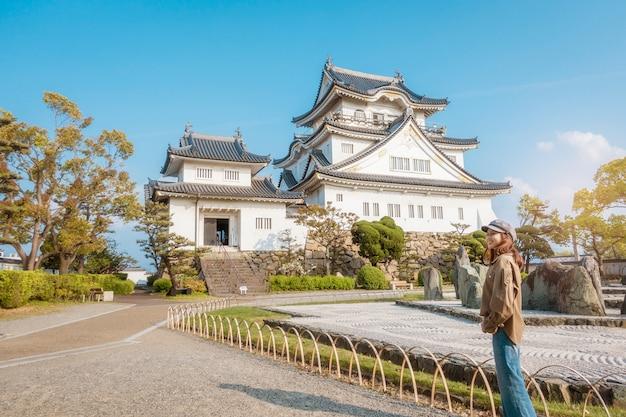Castillo kishiwada en la ciudad de kishiwada, osaka