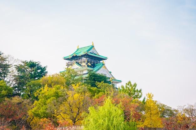 Castillo de osaka en osaka japón