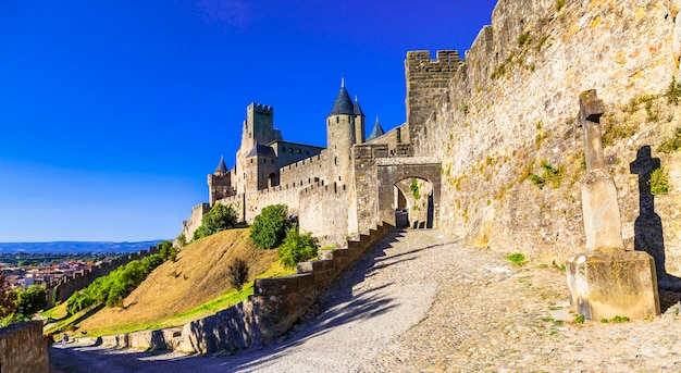 Castillo de panorama carcassonne
