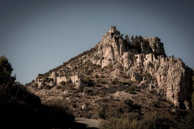 Castillo de san hilarión. distrito de kyrenia, chipre
