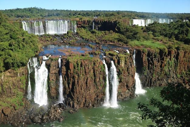 Cataratas del iguazú desde el lado brasileño, foz do iguacu, brasil