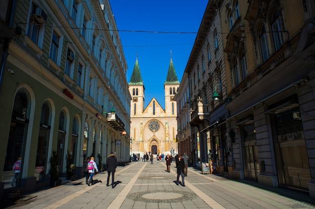 La catedral del sagrado corazón de jesús, sarajevo.