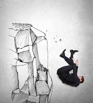 Cayendo tras un fallo