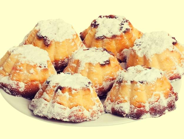 Cazuela de requesón en forma de muffins