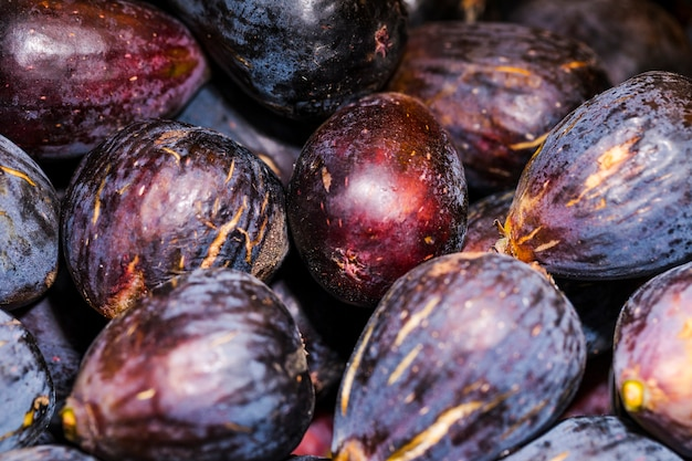 Cebolla roja cosecha natural en el mercado