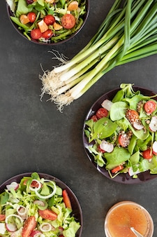 Cebolla verde para ensalada