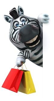 Cebra divertida - ilustración 3d