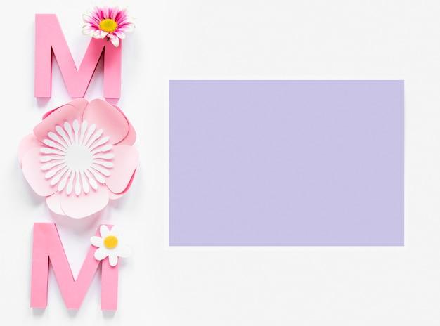 Celebración del día de la madre vista superior