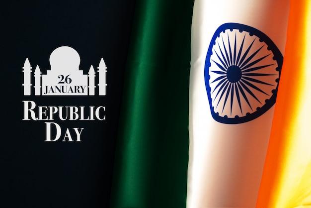 Celebración del día de la república de india el 26 de enero, día nacional indio