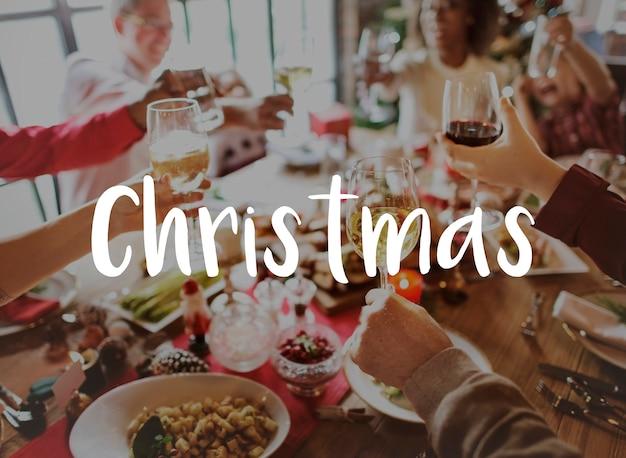 Celebración navidad los mejores deseos de felicidad