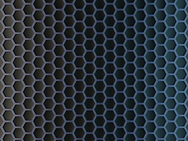 Células hexagonales sobre un fondo gris