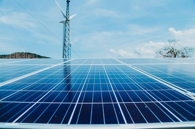 Las células solares son la fuente ecológica de energía alternativa.