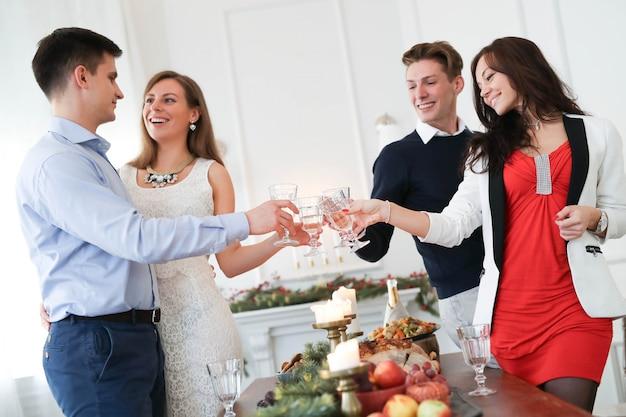 Cena de navidad con la familia