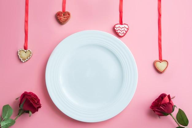 Cena romántica para el día de san valentín