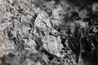 Cenizas quemadas de papel