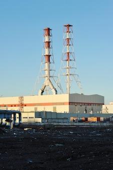 Central térmica sudoeste en san petersburgo, rusia