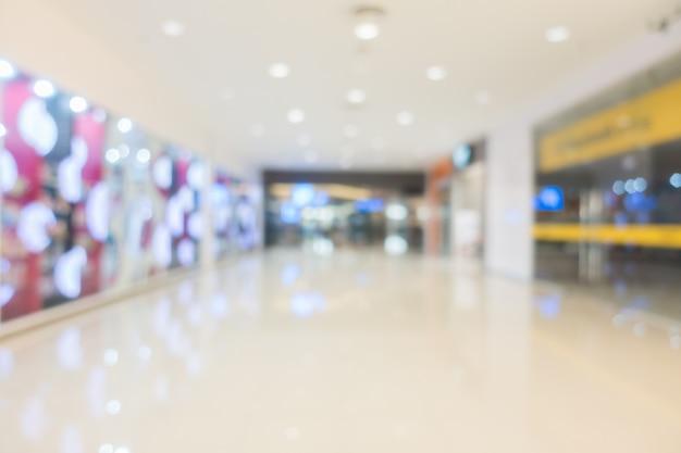 Centro comercial borroso abstracto