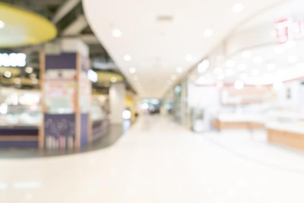 Centro comercial de desenfoque abstracto y tienda minorista para el fondo