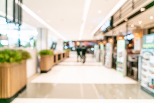 Centro comercial de desenfoque abstracto