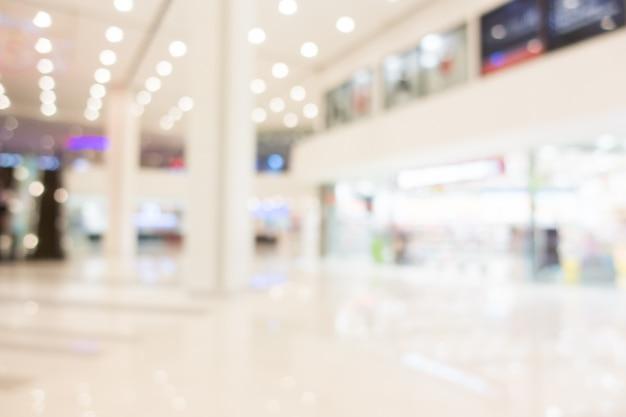Centro comercial de desenfoque