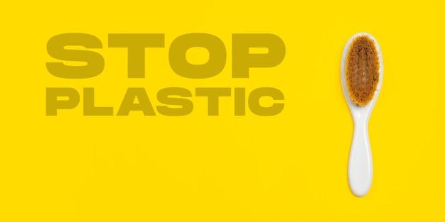 Cepillo para el cabello vida ecológica hecho orgánico reciclar cosas reemplazar polímeros plásticos