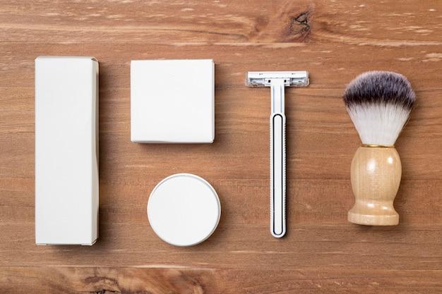 Cepillo y peluquería de vista superior