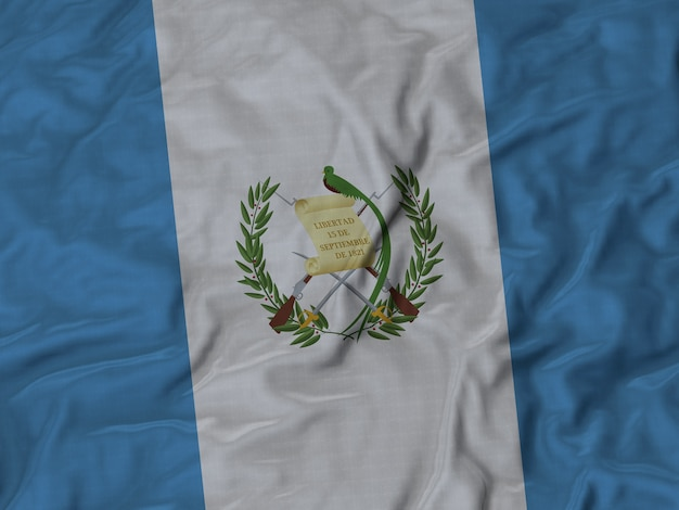Cerca de la bandera de guatemala con volantes
