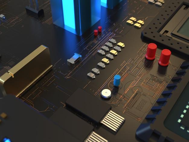 Cerca de chips de computadora