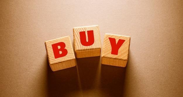 Cerca de comprar palabra, idea de concepto de negocio