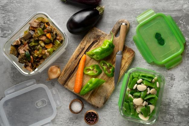 De cerca la deliciosa preparación de comidas