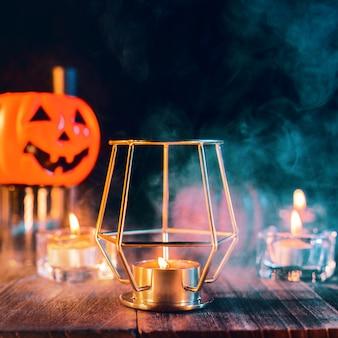 Cerca de la fiesta de halloween espeluznantes decoraciones