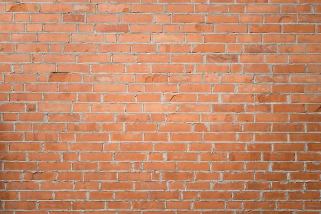 Cerca del fondo de la pared de ladrillo