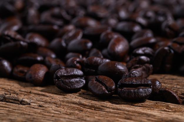 Cerca de granos de café
