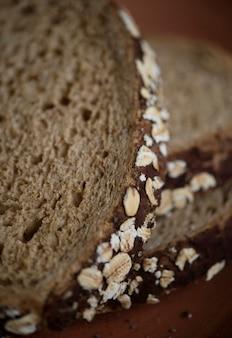 Cerca de rebanadas de pan