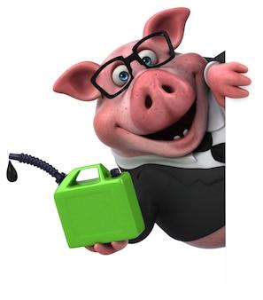 Cerdo divertido - ilustración 3d