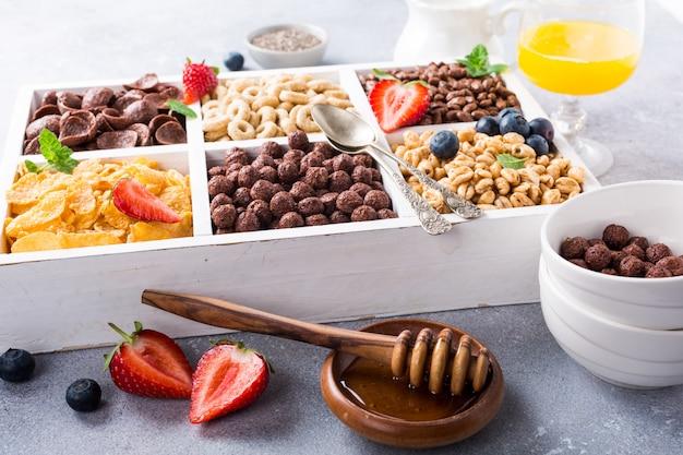 Cereales para el desayuno rápido