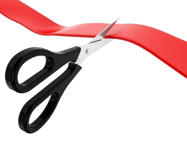 Ceremonia de corte de cinta roja 3d