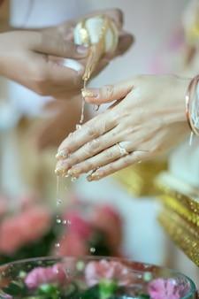 Ceremonia de boda tradicional tailandesa